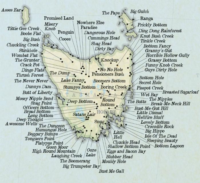 drainage-tasmania-names