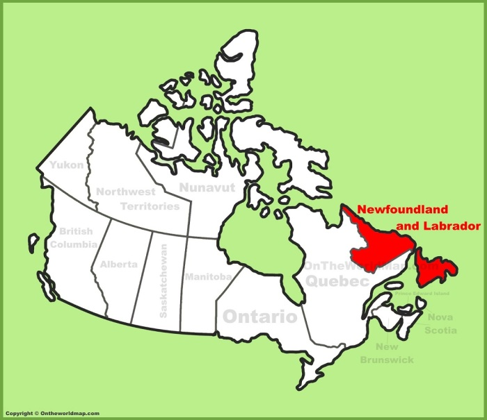 newfoundland-and-labrador-location-on-the-canada-map