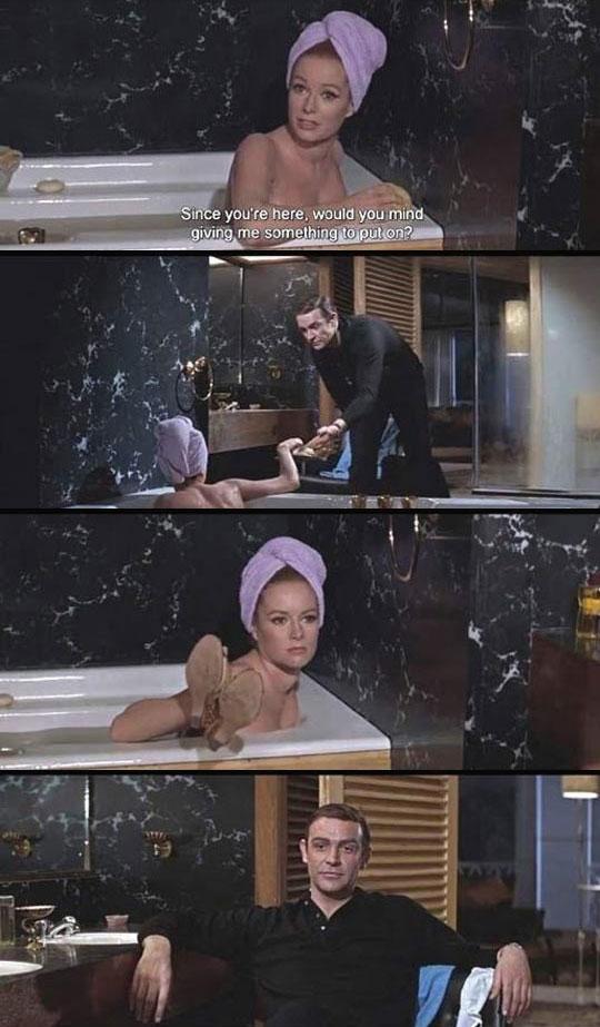 cool-James-Bond-girl-bath-shoes
