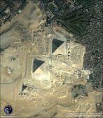 above 3 pyramids