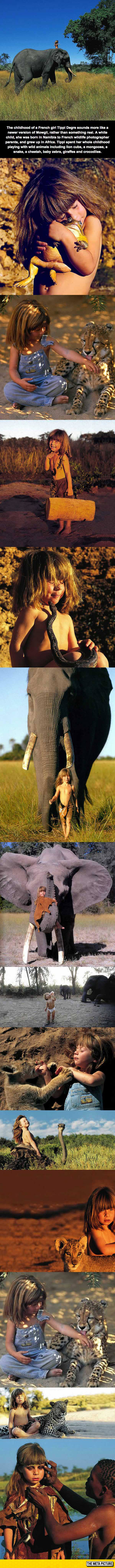 funny-little-girl-African-animals-jungle